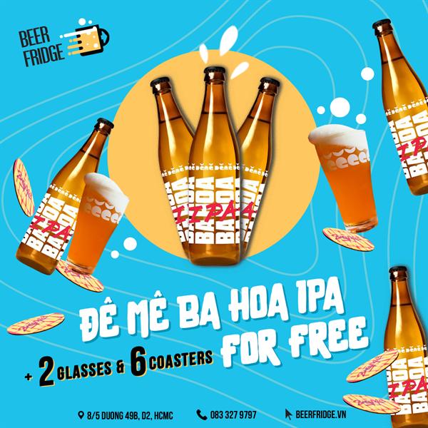 Deme Ba Hoa IPA 6 pack + 2 Free Glasses & 6 Coasters
