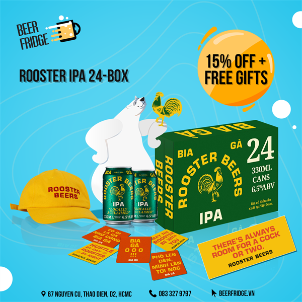 Rooster IPA 24-box + Free Gifts