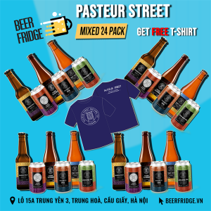Pasteur Street Mixed 24 Pack + 1 Free T-Shirt