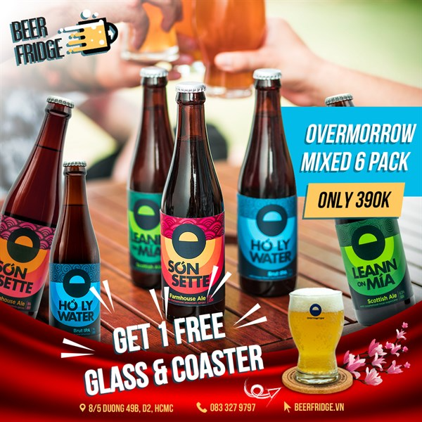 Overmorrow Mixed 6 Pack + Free Glass & Coaster
