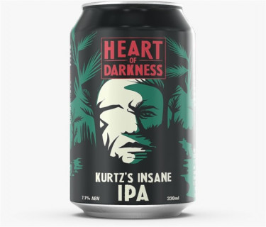 HEART OF DARKNESS Kurtz's Insane IPA Can